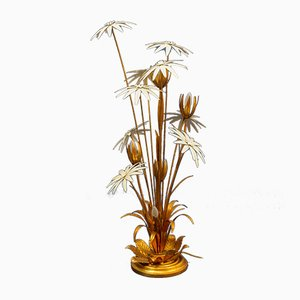 Lampada da terra vintage floreale di Hans Kogl, anni '70