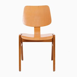 Vintage Stackable Beech Chair, 1970s