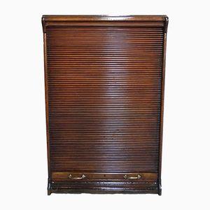 Vintage French Roller Shutter Cabinet