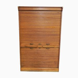 Vintage French Roller Shutter Cabinet, 1930s