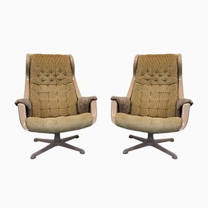 Galaxy Lounge Chairs by Alf Svensson & Yngvar Sandstrom for Dux, 1960s, Set of 2
