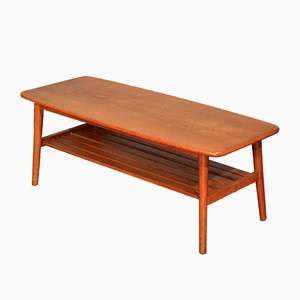 Mid-Century Teak Slatted Coffee Table, 1960s