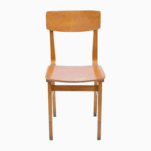 Beech Angular Wooden Chair, 1970s
