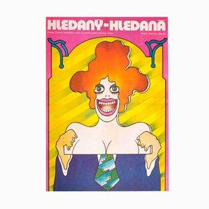 Affiche de Film Man, Woman, Wanted par Vratislav Hlavatý, 1976
