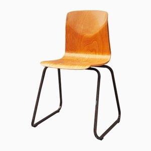 Vintage Stuhl aus Metall & Holz von Galvanitas