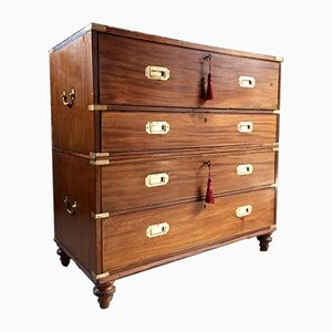 Antique Campaign Chest of Drawers from Gillows of Lancaster, 1850s