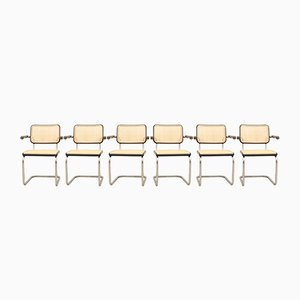Vintage S 64 Armchairs by Marcel Breuer for Thonet, Set of 6