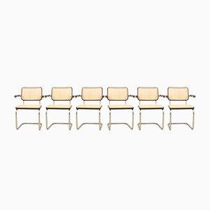 Vintage S 64 Armlehnstühle von Marcel Breuer für Thonet, 6er Set