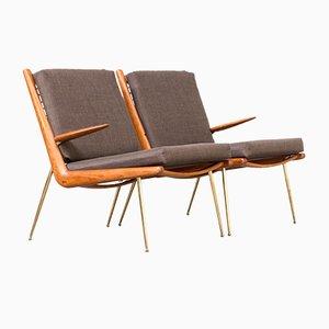Vintage FD135 Boomerang Chairs von Peter Hvidt und orla Mølgaard-Nielsen für France & Son, 2er Set