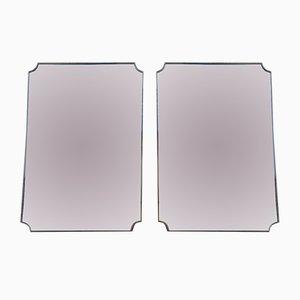 Italienische Vintage Spiegel, 1950er, 2er Set