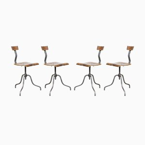 Mid-Century Laboratory Chairs, Set of 4