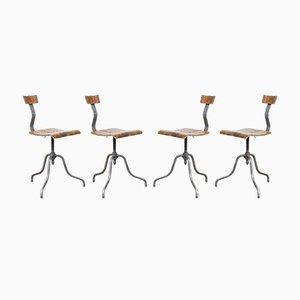 Mid-Century Laboratory Chairs, Set of 4