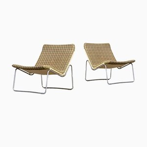 Vintage Scandinavian Low Lounge Chairs, 1960s, Set of 2