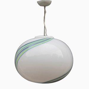 Lámpara colgante vintage con burbuja de cristal de Murano de VeArt, años 60