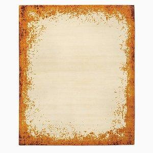 Modern Border Teppich in Burnt Orange von Knots Rugs