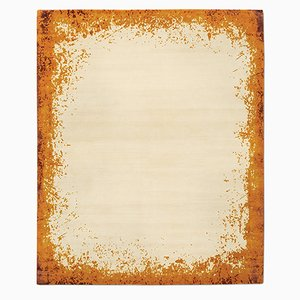 Tapis Border Moderne Orange de Knots Rugs