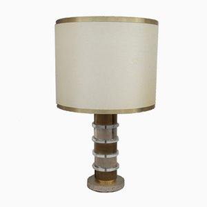 Vintage Metal and Plexiglas Table Lamp, 1970s
