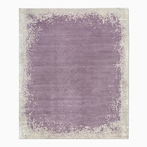 Modern Border Rug in Dark Mauve from Knots Rugs