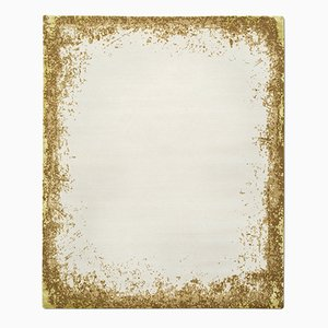 Modern Border Rug in Gold from Knots Rugs