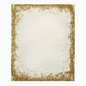 Modern Border Teppich in Gold von Knots Rugs