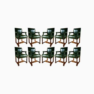 Antique Armchairs by Howard & Sons, Set of 10