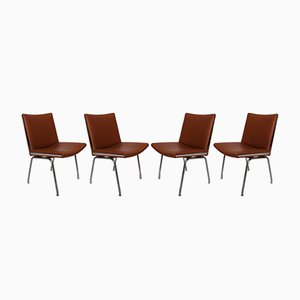 AP37 Airport Chairs by Hans J. Wegner for A.P. Stolen, 1950s, Set of 4