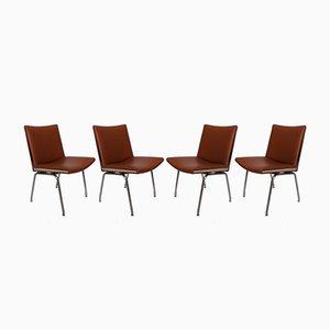 AP37 Airport Stühle von Hans J. Wegner für A.P. Stolen, 1950er, 4er Set