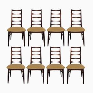 Modell Lis Esszimmerstühle von Niels Koefoed für Hornslet Møbelfabrik, 1960er, 8er Set