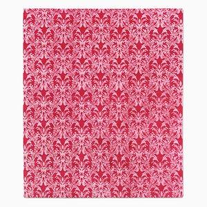 Alfombra Royal Damask en rojo y rosado de Knots Rugs