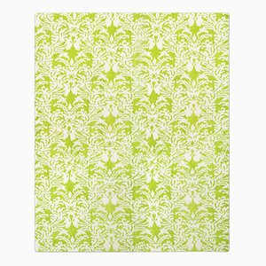 Royal Damask Rug in Acid Green from Knots Rugs
