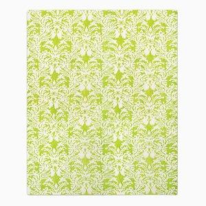 Tappeto Royal Damask verde acido di Knots Rugs