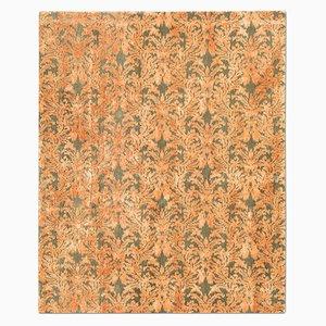 Tappeto Royal Damask color oliva ed arancione di Knots Rugs