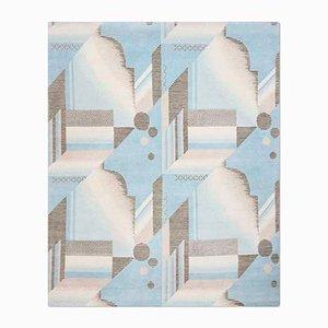 Tappeto Art Deco Aqua di Knots Rugs