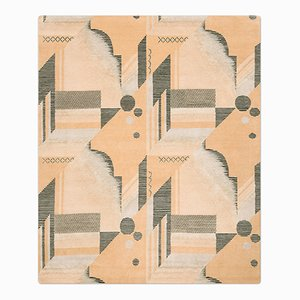Art Deco Teppich in Melon von Knots Rugs