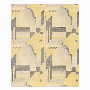 Alfombra Art Déco en limón de Knots Rugs
