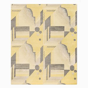 Art Deco Rug in Lemon from Knots Rugs