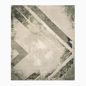 Chevron Teppich in Olive von Knots Rugs