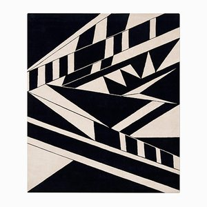 Deco Rug in Black & White from Knots Rugs