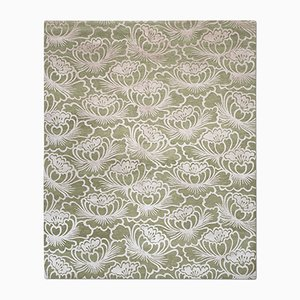 Tappeto Lotus color oliva di Knots Rugs