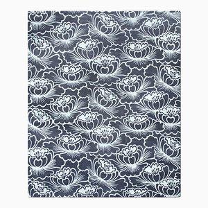 Lotus Teppich in Blau von Knots Rugs