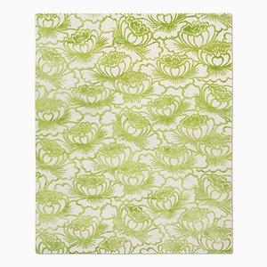 Alfombra Lotus en verde ácido de Knots Rugs
