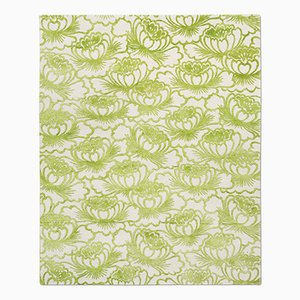 Tappeto Lotus verde acido di Knots Rugs