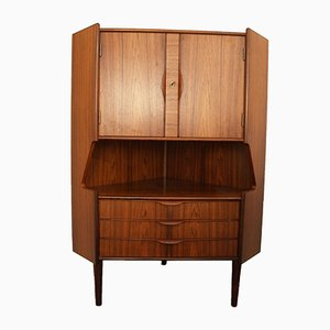 Danish Rosewood Corner Cabinet with Bar, 1950s
