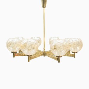8-Armed Chandelier in Brass from Sciolari, 1960s