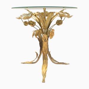 Tavolino da caffè fiorentino con fiori in metallo di Hans Kögl, anni '60