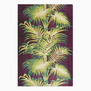 Tappeto Palms color melanzana di Knots Rugs