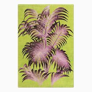 Palms Rug in Lime from Knots Rugs