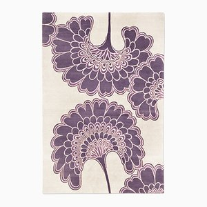 Japanese Floral Rug in Purple from Knots Rugs