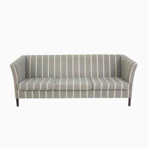 Grau gestreiftes Vintage 3-Sitzer Sofa von Børge Mogensen, 1960er