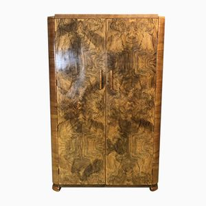 Art Deco Cabinet in Walnut Burl